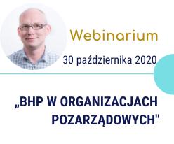 Webinarium – BHP w organizacjach pozarządowych